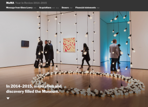 MoMA Launches Annual Report Website image