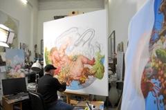 Fu Lei in his Studio image