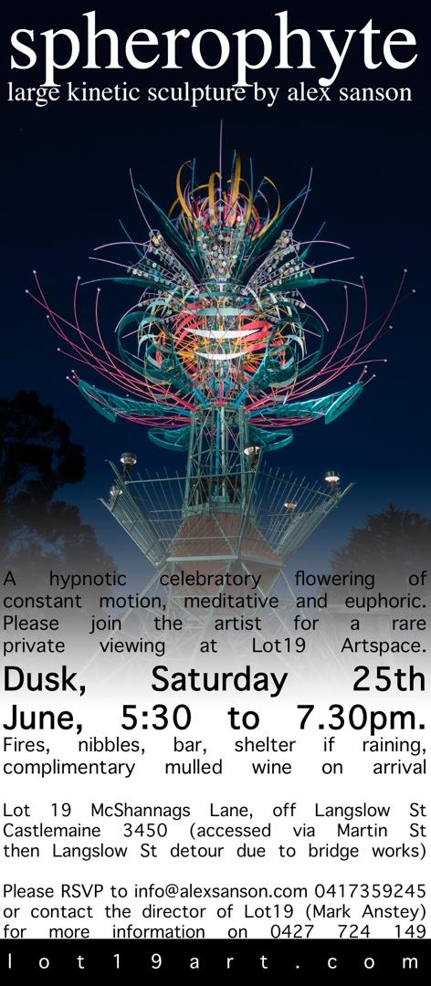 Spherophyte launch invite image