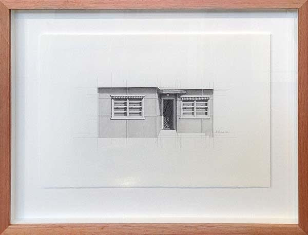 Catherine O'Donnell 'Urban dwellings series 14' 2016 pencil on paper, 28.5 x 25.5cm Frame size: 41.5 x 38.5cm image