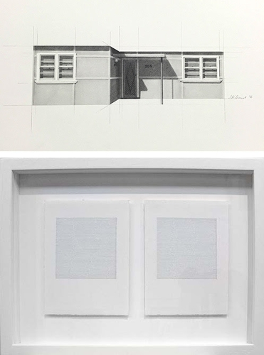 Top: Catherine O'Donnell, 'Urban dwellings series 11' 2016, pencil on paper, 25 x 56cm image