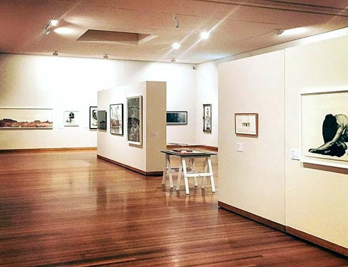 Pictured:  Exhibition install of Paul Guest Prize at Bendigo Art Gallery. image