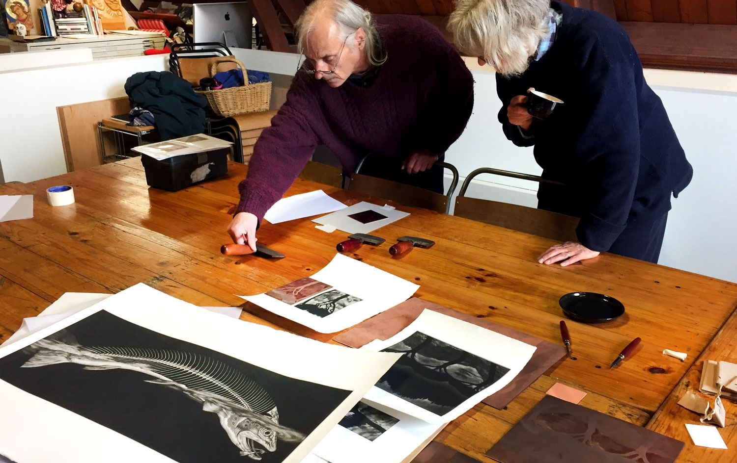 Graeme Peebles, custom Mezzotint workshop image