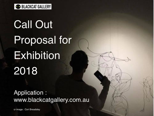 Proposal call out to exhibit at BlackCat Gallery in 2018 image