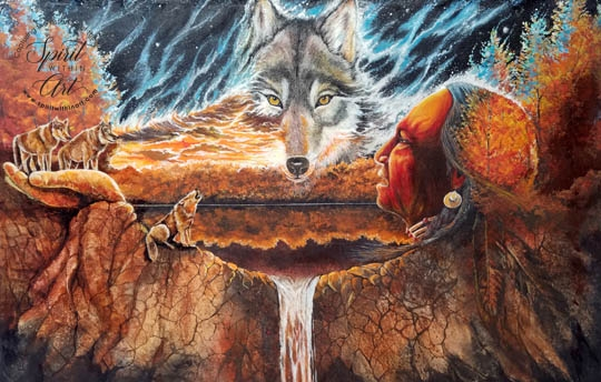Greeting the Great Wolf image