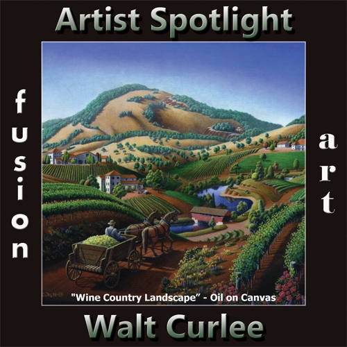 Walt Curlee is Fusion Art's Traditional Artist Spotlight Winner for October 2019 image