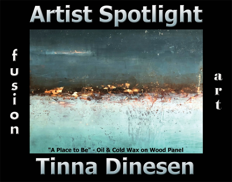 Tinna Dinesen Wins Fusion Art's Artist Spotlight Solo Art Exhibition for April 2020 image