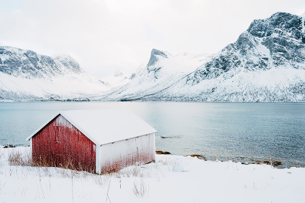 The Barn, Senja Island, Northern Norway, from the series The red and the White image
