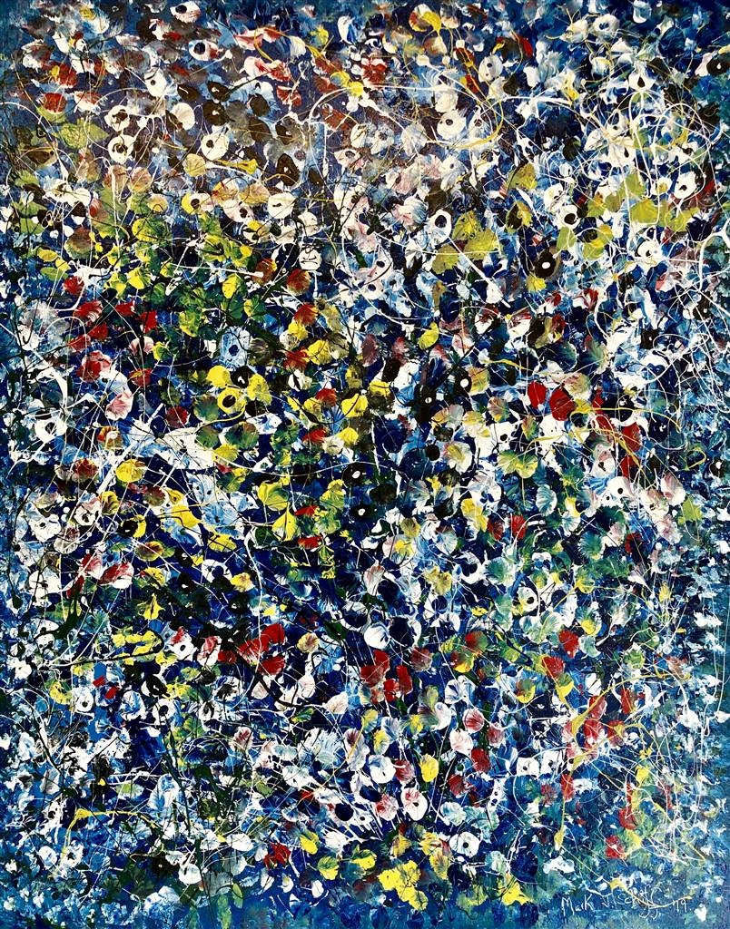 Mark Schiff, Provence Lilies, Acrylic on Canvas image
