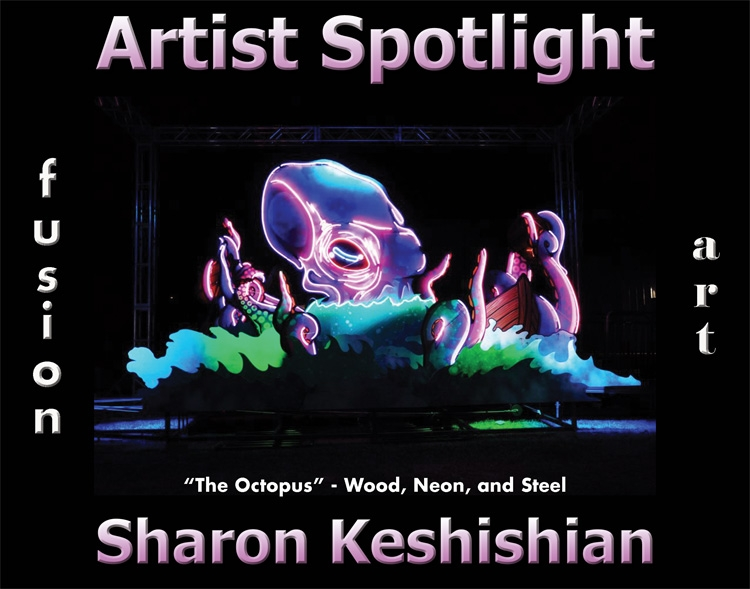 Sharon Keshishian Wins Fusion Art's Artist Spotlight Solo Art Exhibition for October 2020 image