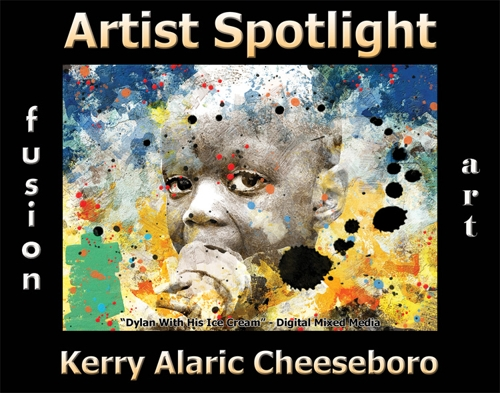 Kerry Alaric Cheeseboro Wins Fusion Art's Artist Spotlight  Solo Art Exhibition for October 2020 image