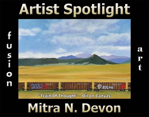 Mitra N. Devon is Fusion Art's Traditional Artist Spotlight Winner for December 2020 image