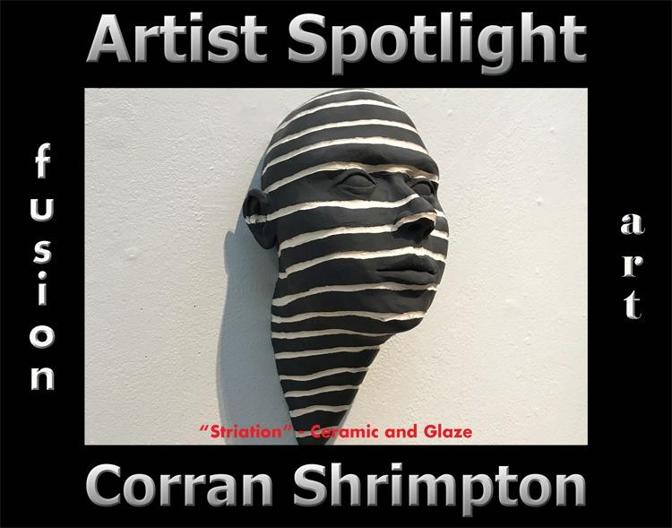 Corran Shrimpton is Fusion Art's 3-Dimensional Artist Spotlight Winner for December 2020 image