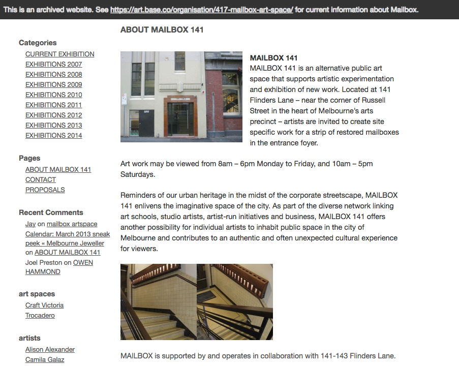 Website Archiving image