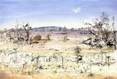 Landscape with White Birds image