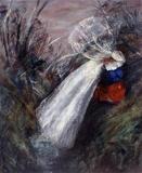 Bride and Bridegroom by a Stream image