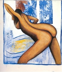 Bather and Garden image