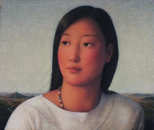 Xue Mo: Portrait of Miss Wulan image