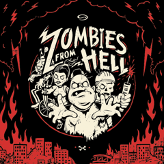 IPad Game you play on a Pizza Box - Zombies From Hell image