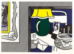 Roy Lichtenstein - Two Paintings: Green Lamp image