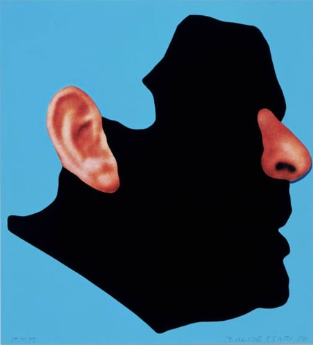 Profile with ear and nose  image