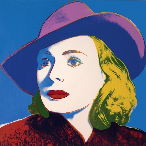 Andy Warhol - Ingrid Bergman; With Hat image
