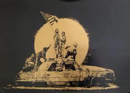 Banksy - Gold Flag image