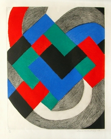 Sonia Delaunay - Composition in Red, Green, Blue and Black  image
