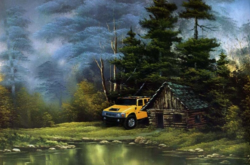 In The Wilderness - After Bob Ross image