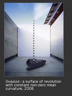 Onduloid: A surface of revolution with constant non-zero mean curvature image