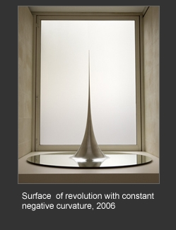 Surface of revolution with constant negative curvature image