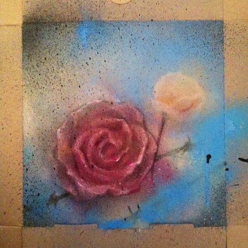 Spraypaint on Cardboard image