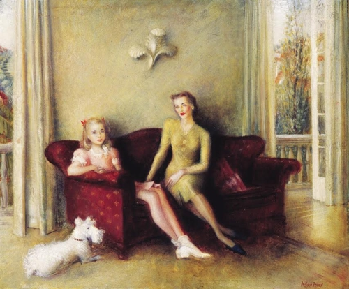 William Dobell: Helen Blaxland and Tonia  image