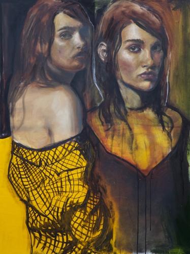 Yellow, Two Figures image