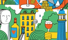 Tipsy Wine Store Mural image