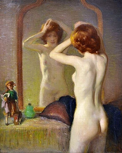 Woman in a Mirror image