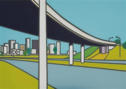 A Freeway Painting (Over Pass)  image