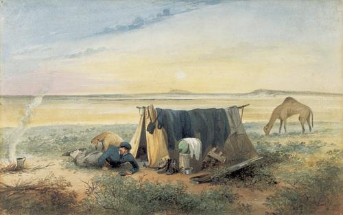 Invalid's tent, salt lake 75 miles north-west of Mount Arden 1846 image