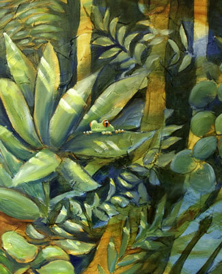 "Detail from ""Deep Forest II""  image"