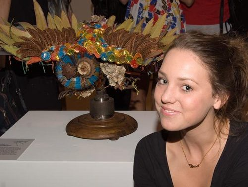 Bethany Scott, with her work Recollecting Folly (2008)  image