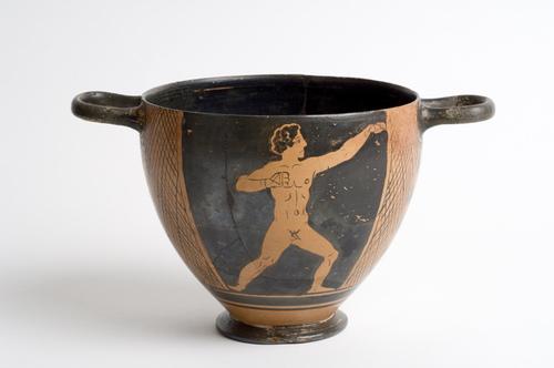 Lucanian red-figure skyphos c. 400 BCE image