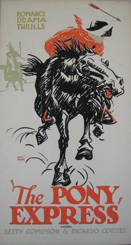 The Pony Express. 1925.  image