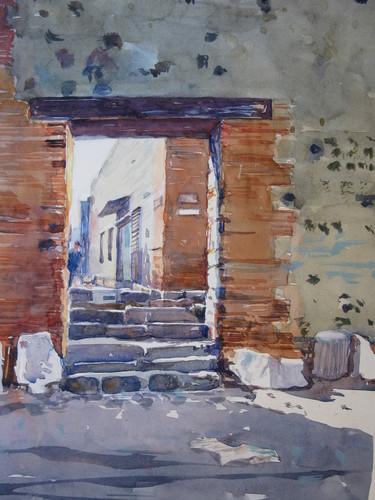 Pompeii doorway image