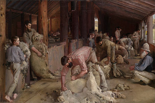 Shearing the rams 1888-90 image