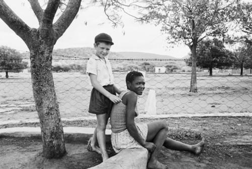 A farmer's son with his nursemaid, Heimweeberg, Nietverdiend, 1964 image
