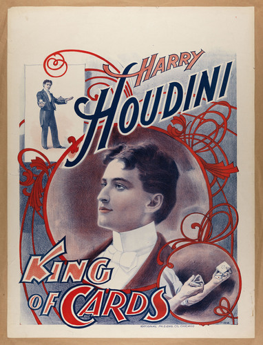 National PR & Eng. Co, Chicago, Harry Houdini, King of Cards, c. 1895 image