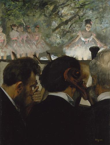 Orchestra musicians 1870–71 (Musiciens à l'orchestre) image