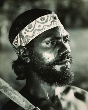 Untitled [portrait of Robert Tudawali as Marbuck from Jedda] c.1954 image
