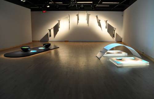 «The Strange Lightness of the World»: Installation view at Maison de la culture Côte-des-Neiges, Montréal (Canada) image