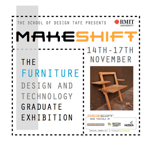 Makeshift – RMIT Furniture Design & Technology Graduate Exhibition image